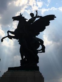 Statue Outside of Palacio de Bellas Artes